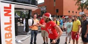 Boxbal in actie op evenement